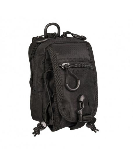 Bolsa porta objetos HexTac, color negro. Dimensiones: 14 x 10 x 5cm